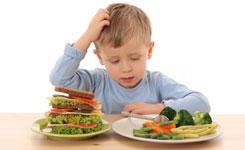 Kleintjes aan de groente: gevecht of peulenschil?